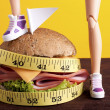 Stock Photo: Fight to Lose Weight With Diets