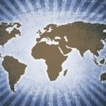 Retro world map — Stock Photo