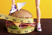 Fight to Lose Weight With Diets — Stock Photo