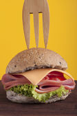 Healthy burger — Stock Photo