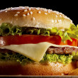 Stock Photo: Close up of hamburger