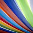 Multi color fabric stripe — Stock Photo
