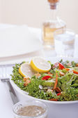 Salad with French dressing — Stock Photo