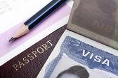 Passport and visa — Stock Photo