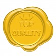 Top quality gold wax seal — Stock Photo #35165429