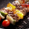 Grilling skewers barbecue — ストック写真