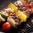 Grilling skewers barbecue — Stock fotografie