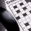 Crossword Puzzle game — Stock Photo