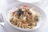Thai green papaya salad — Stock Photo