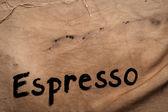 Espresso handwriting — Stock Photo