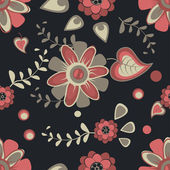 Pattern with pink flowers — Vetorial Stock
