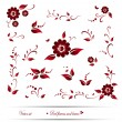 Royalty-Free Stock Vector Image: Vector set of red flowers and leaves. EPS 10