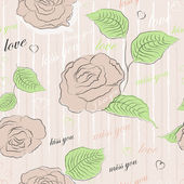 Vector seamless pattern with roses — Stockvektor