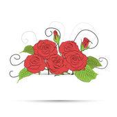 Vecteur bouquet de roses. eps 10 — Vecteur
