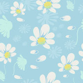 Vector seamless pattern with camomile. EPS 10 — Stock Vector