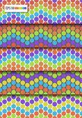 набор 5 разноцветных векторных бесшовные шаблоны. eps10 — Cтоковый вектор