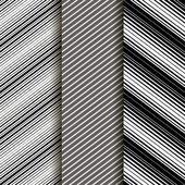 Uppsättning av 3: sömlös patern med diagonala linjer. Grå. Eps10 — Stockvektor