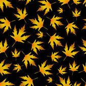 Vector seamless pattern with golden leaves — Stock Vector