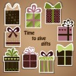Vector set of holiday gifts — Stock Vector