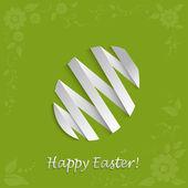 Vector Easter egg on a light green background — Stock Vector