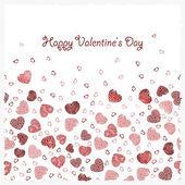 Postcard Happy Valentine's Day — Stock Vector