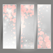 Vertical romantic banners — Stock Vector