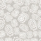 Abstract seamless pattern with rings on a gray background — Stock vektor