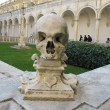 Ornamental skull in Chiostro di San Martino - Naples — Stock fotografie
