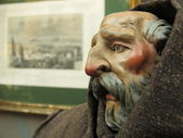 Handmade puppet's head — Stock Photo