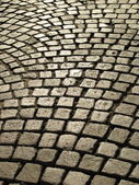 Cobblestone paved street — Stock Photo