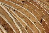 Contrachapado de abeto áspero en forma cruda — Foto de Stock