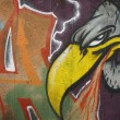 Vulture graffiti on a wall — Stok fotoğraf