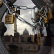 Stock Photo: Padlocks of love