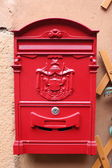 "Red reproduction of wall mailbox of italian ""Regie Poste"" (Royal — Stock Photo"