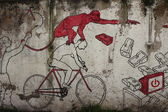 Graffiti on Rome's wall — Stock Photo