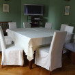 Stock Photo: White table and chairs