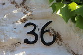 Number 36 (digit) — Stock Photo