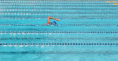 Swimming pool and swimmers — Stock Photo