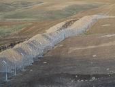 Fences with barbed wire — Zdjęcie stockowe