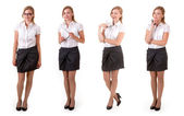 Variants of business lady — Stock Photo