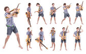 Variants of rocker with bass — Stock Photo