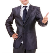 Business man making ok gesture — Stock Photo