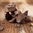 Stock Photo: Chunks of chocolate