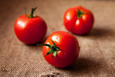 Three tomatoes — Stock Photo