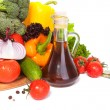 Stock Photo: Vegetables and oil in vessel