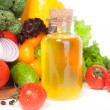 Stock Photo: Vegetables and oil