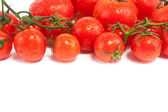 Fresh tomatoes isolated on white — ストック写真