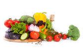Groenten en olie — Stockfoto
