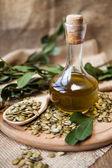 Pumpkin seed oil — Stock Photo