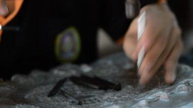 Thai silver handicrafts — Stock Video
